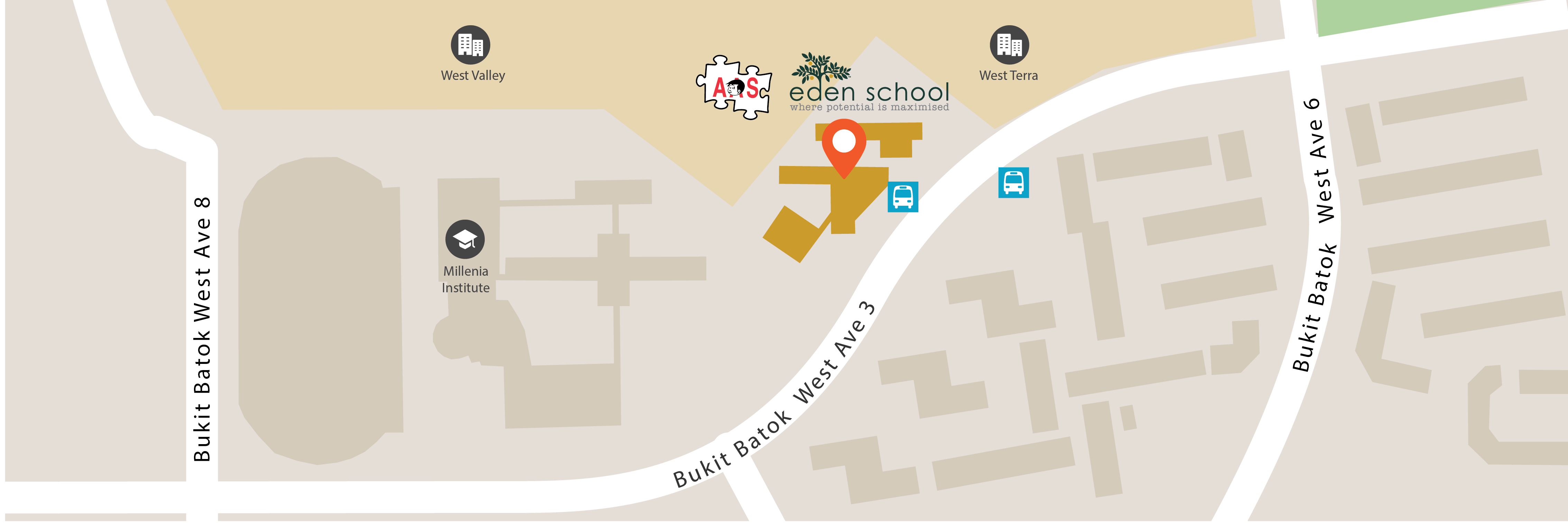 Eden School Campus Map